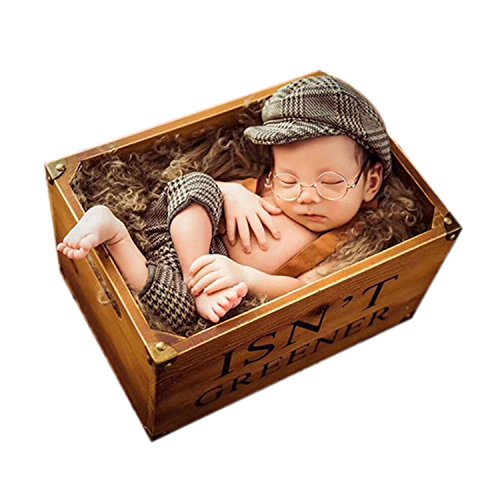 Newborn Photography Props Baby Boy Girl Photo Outfits Infant Costumes for Photo Shoot Crochet Kintted Cap ()