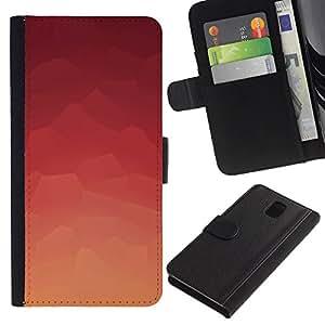 YiPhone /// Tirón de la caja Cartera de cuero con ranuras para tarjetas - Modelo rosado abstracto - Samsung Galaxy Note 3 III