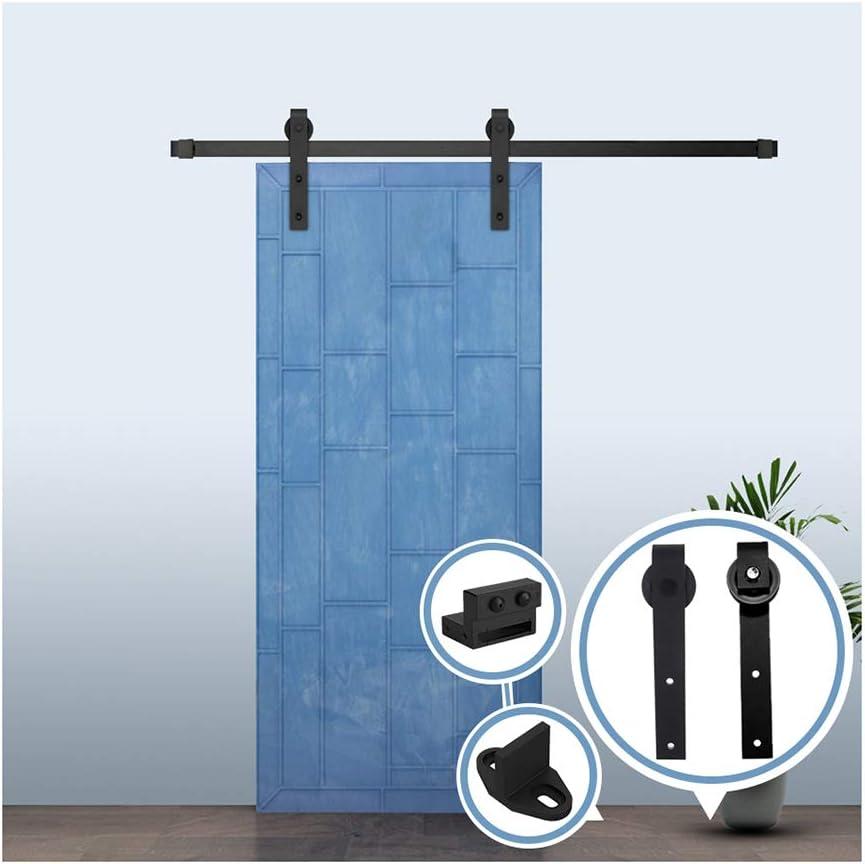6.6FT/200 cm Herraje para Puerta Corredera Kit de Accesorios para Puertas Correderas,Negro J-Forma: Amazon.es: Bricolaje y herramientas