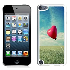 NEW Unique Custom Designed iPod Touch 5 Phone Case With Heart Shaped Air Balloon_White Phone Case