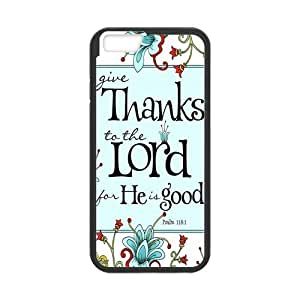 iPhone 6 Protective Case - Bible Verse Psalm 118:1 Hardshell Cell Phone Cover Case for New iPhone 6