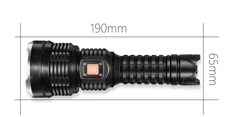 WANGYONGQI Taschenlampe, wiederaufladbare super helle Xenon-Taschenlampe, 1000 m multifunktionslenjagd LED Blendung Taschenlampe, 4000 Lumen
