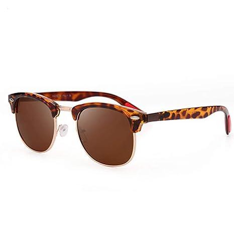 Yangjing-hl Espejo Gafas de Hombre Moda Retro Gafas de Sol ...