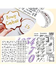 5 PCS Fondant Cake Stamp Mold-Reusable Food-grade DIY Alphabet Cookie Stamp Cutter Fondant Mould Ideal for Fondants,Cakes,Cookies, Card Making Decoration and DIY Scrapbooking (5pcs--Alphabet and Numbers)