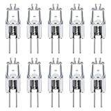 Vicloon G4 Halogen Light Bulbs, 20W 12V G4 Halogen-Pin-Base-Lamp Warm White Clear Capsule Lamp Pack of 10