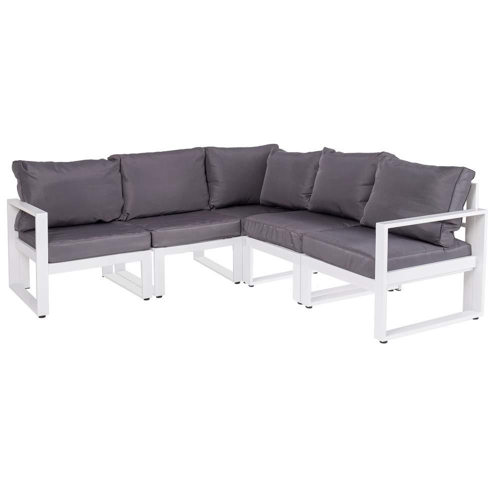 Sofá de jardín y Exterior Blanco de Aluminio para terraza ...