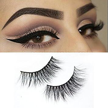 fc1c292e660 Amazon.com : Misstar 100% Handmade 3D Mink False Eyelashes Natural Long  Siberian Mink Fur Fake Eyelashes 1Pair A12 : Beauty