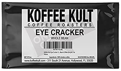 Koffee Kult Eye Cracker Espresso Beans - Bright, Bold Medium Roast with a Citrus Twist Coffee | Whole Beans Coffee Sample 2 oz