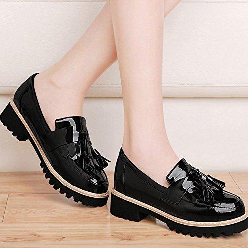 Mme printemps et chaussures d'automne chaussures de sport rond avec des chaussures simples chaussures de pied fixe , US7.5 / EU38 / UK5.5 / CN38