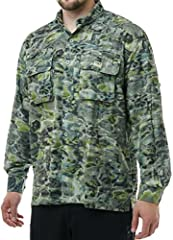 This shirt has the feel, functionality and extreme camouflaging quality that lets you get up close and personal with wary fish. The fabric naturally sheds UV rays, breathes easily and feels like a second skin. Improved ventilation, more attac...