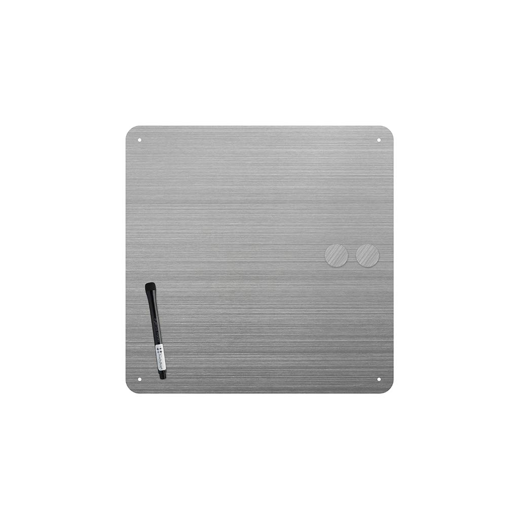 14x14 Stainless Dry-Erase Board by Three by Three