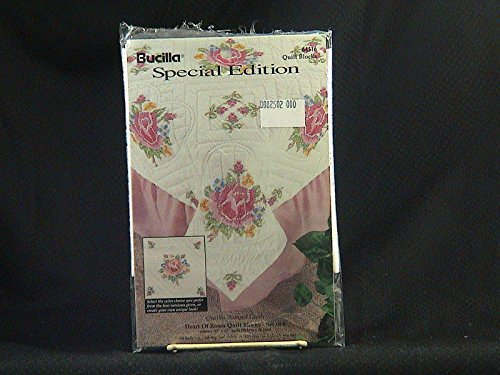 "Bucilla Special Edition ""Heart of Roses"" Stamped Quilt Block"