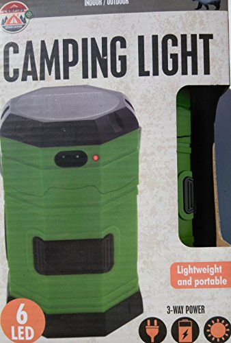 American 3-Way Power LED Camping Lantern Solar power USB power by American