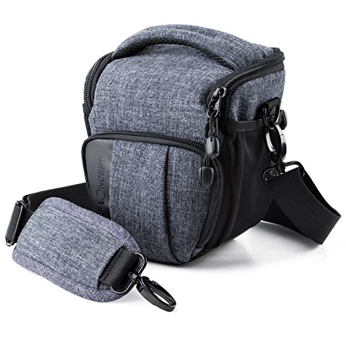 Camera Case K&F Concept Digital SLR/DSLR Professional Camera Shoulder Bag Fashion Style Carrying Bag Compact System, SLR/DSLR - Gray