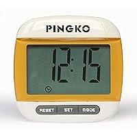Podómetro con clip Pingko de calidad superior, cuenta pasos de precisión, en millas y kilómetros, con contador de…