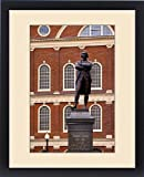 Framed Print of Statue of Samuel Adams, one of the strongest voices for the American Revolution