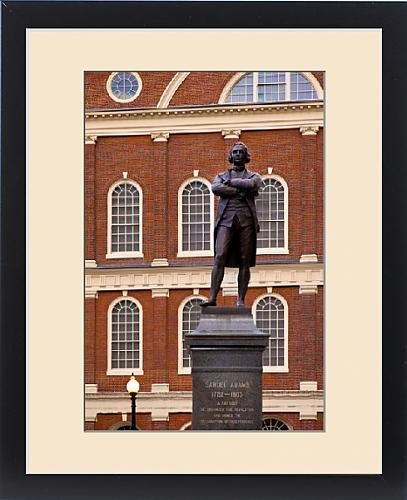 Framed Print of Statue of Samuel Adams, one of the strongest voices for the American Revolution by Fine Art Storehouse