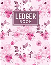 Ledger Book: Simple Debit & Credit Tracker, Accounting Cash Log Book For Small/Medium Businesses, General Bookkeeping Ledger