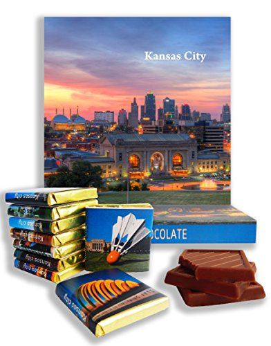 DA CHOCOLATE Candy Souvenir KANSAS CITY Chocolate Gift Set 5x5in 1 box - Map Creek Center City