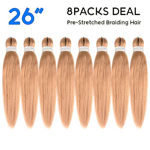 (Pre Stretched Braiding Hair Blonde 26