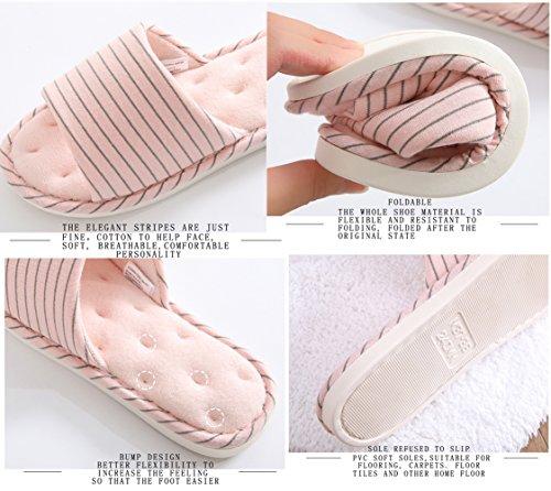 Pink Bottom Chaussons Coton Maison Hiver Maison Chaud Mousse Hommes d'intérieur Plancher Bois Soft Couple Automne Femmes Mémoire Light rTRwgETxq