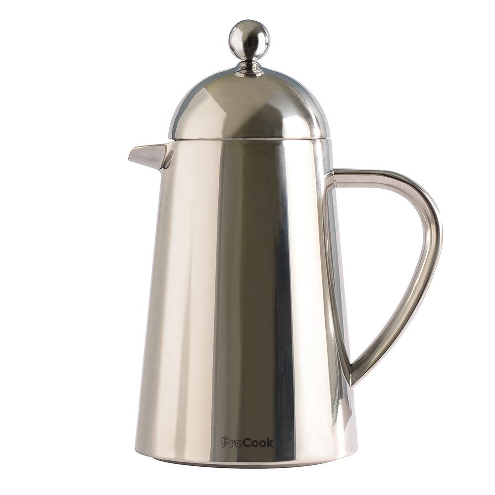 ProCook Double Walled Stainless Steel Cafetiere Conical 3 Cup / 350ml