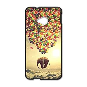 Happy Elephant and colorful balloon Cell Phone Case for HTC One M7
