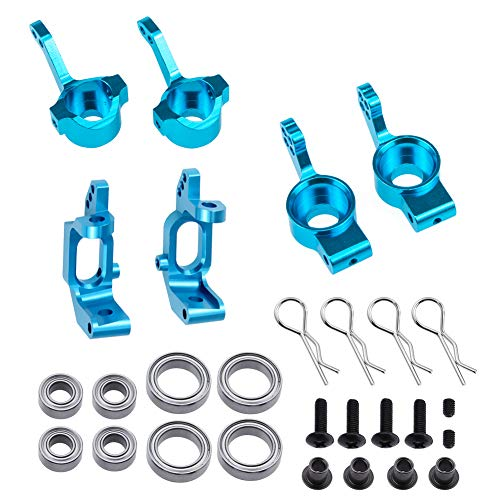 Aluminum Steering Knuckle Kit Hub Carrier Mount Set 102010 102011 102012 Upgrade Parts for RC Redcat Volcano EPX Monster Truck HSP ()