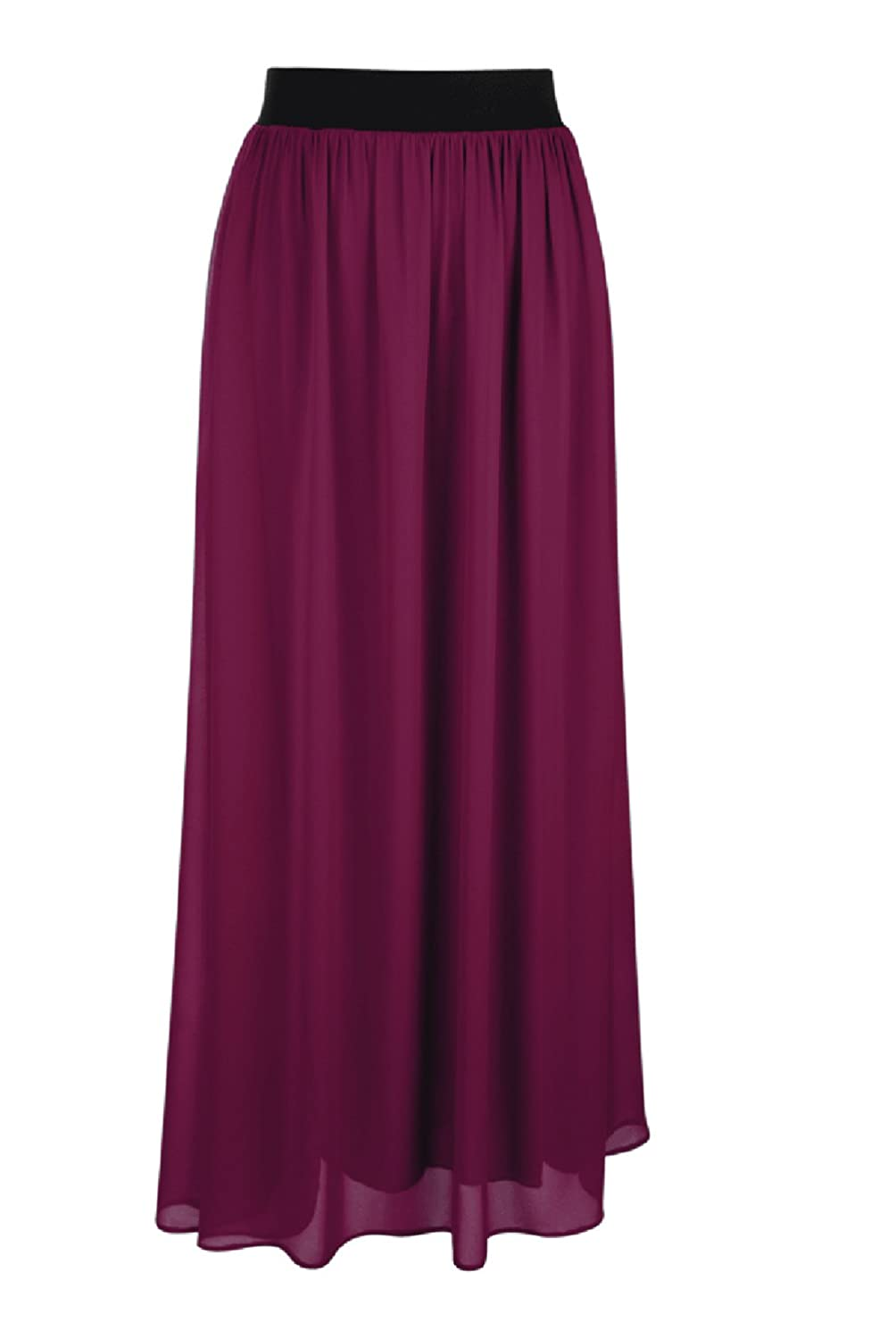 d90d40cd5a ... High Quality Chiffon; Lining, Banded Elastic Waist; Machine washable;  30%OFF Faship Women Long Retro Pleated Maxi Skirt