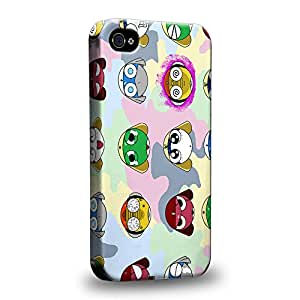 Case88 Premium Designs Sergeant Keroro Corporal Giroro Private Tamama Sergeant Major Kululu Lance Corporal Dororo 1968 Protective Snap-on Hard Back Case Cover for Apple iPhone 4 4s