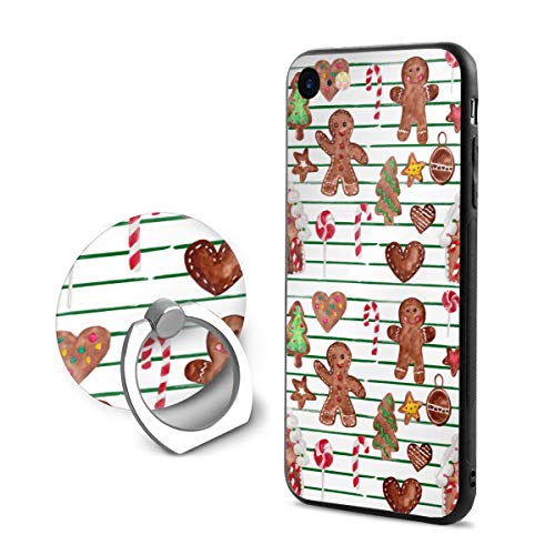Gingerbread Stripes - iPhone 8 Case/iPhone 7 Case (4.7 Inches) Gingerbread Christmas Stripes Anti-Scratch Resistant Slim Fit Cover