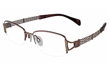 b8f570baf Image Unavailable. Image not available for. Color: Charmant Line Art  Women's Eyeglasses XL2068 XL/2068 BR Brown Optical Frame 50mm