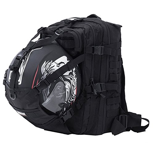 Seibertron Waterproof Large Capacity Molle Motorcycle Helmet Holder/Cycling Helmet Storage/Hiking
