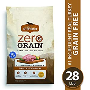Rachael Ray Nutrish Zero Grain Natural Premium Dry Dog Food, Grain Free, Turkey & Potato, 28 Lbs