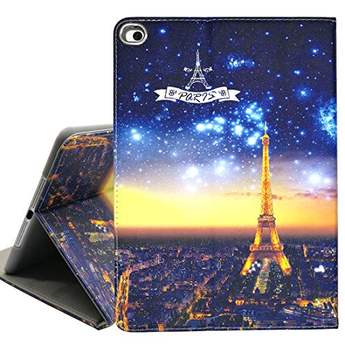 (iPad Mini 1/2/3 Case,Night View Eiffel Tower Book Cover Design Lightweight Smart Multi-Angle Viewing Stand Protective Cover for iPad Mini 1/2/3 Generation)