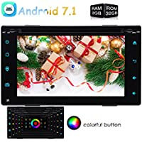 EinCar Double 2 Din Android 7.1 Car Navigation Stereo with Bluetooth Wifi/BT 1080P Video Music MP3 Entertainment Car Radio System support USB/SD up to 64GB FULL Touchscreen with RGB lights