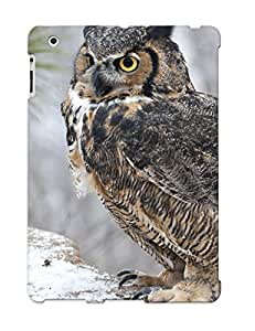 Protective Tpu Case With Fashion Design For Ipad 2/3/4 (animal Great Horned Owl)