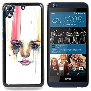 """Labios Mujer Minimalista"""" - Metal de aluminio y de plástico duro Caja del teléfono - Negro - HTC Desire 626 626w 626d 626g 626G dual sim"""