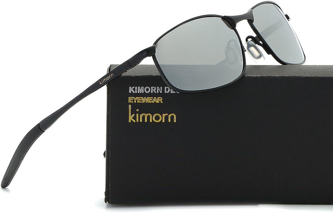 kimorn Polarisierte Sonnenbrille Herren Retro Rechteckig Rahmen Klassisch Unisex Gl/äser K0535