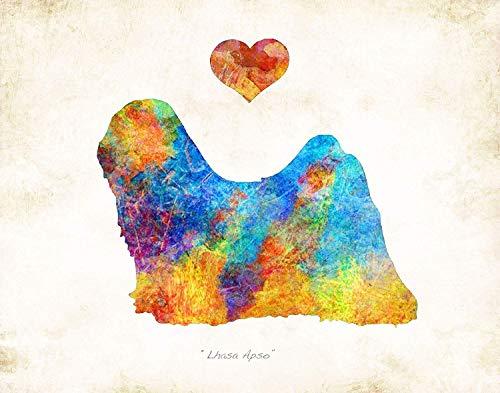 Lhasa Apso Dogs - LHASA APSO Dog Breed Art Print by Dan Morris