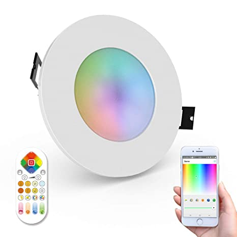 newest 78e06 51383 iHomma Smart LED Downlights IP65 Waterproof Dimmable Mutil-color Cool White  Warm White, Wi-Fi and Remote Control Recessed Light for Bathroom Kitchen ...
