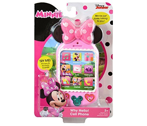 (Mozlly Multipack - Disney Minnie Why Hello There! Pink Cell Phone Talking Play Phone First Smartphone (Pack of 3))