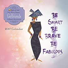 """Shades of Color 2017 Girlfriends, A Sister's Sentiments African American Calendar, 12 by 12"""" (17GF)"""