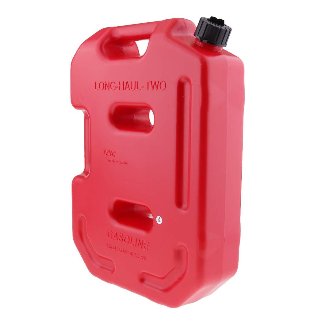 Homyl Lata de Combustible de Gasolina 10 litros Pl/ástico Acecsorio Deportivo Duro rojo