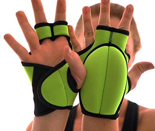 SISYAMA Combat Kickboxing Weighted Gloves (Neon Green)