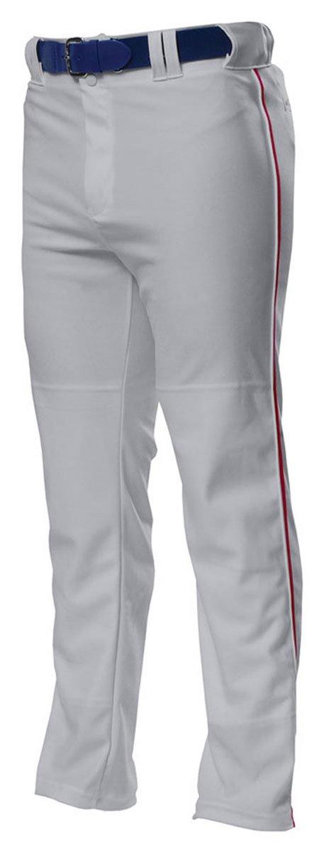 A4 野球用パンツ プロ仕様 前開き型 B00BPXRB2Q XL|Grey/Cardinal Grey/Cardinal XL