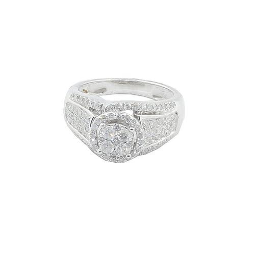 Midwest joyería de las mujeres 1 quilates de anillos de boda de novia 10 K oro