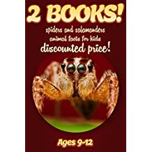 2 Bundled Books: Spider & Salamander Facts For Kids Ages 9-12: Amazing Animal Facts And Pictures: Clouducated Red Series Nonfiction For Kids
