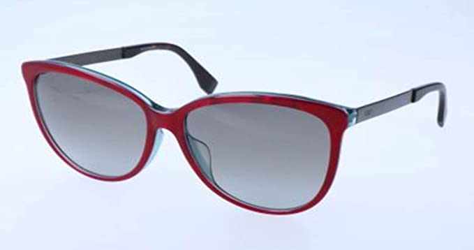 91b257f1a5e4 Image Unavailable. Image not available for. Color  Fendi Logo Brown Red  Grey Asia Fit Sunglasses