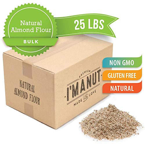UNBlanched Natural Almond Flour Great for Paleo and Keto Diet, Grain and Gluten Free, Certified Kosher, 25 lbs By Im A Nut